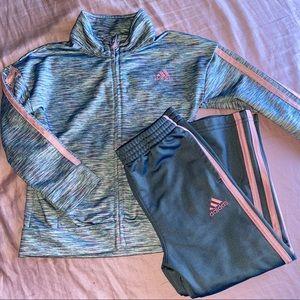 Girls Adidas Track Suite